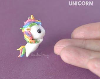 Rainbow Unicorn Charm | Handmade Clay Charms, Pendants