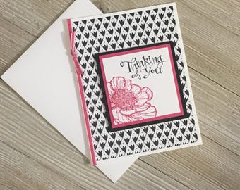Thinking of you Cards - Handmade Greeting Cards - Stampin Up Greeting Cards - Personalized Greeting Cards