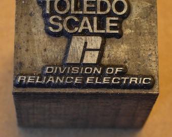 Toledo Scale Logo Print Block