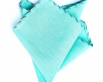 Seafoam Pocket Square