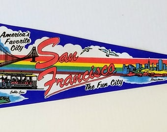 San Francisco, The Fun City - Vintage Pennant