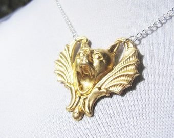 Eccentric gargoyle necklace