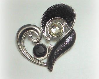 Purple Heart pendant & rhinestones
