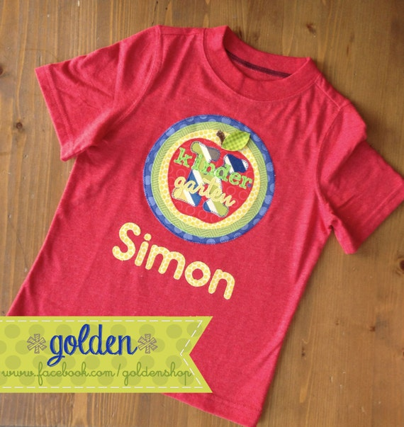 Back to School Apple Grade and Name tee, First day of school