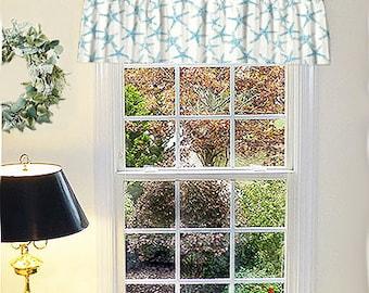 Custom Made Beach House Window Drapes, Made in USA, Ocean Living, Porch Drapes, Coastal Living Window Curtains, Made to Order Valances