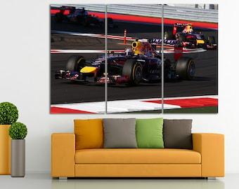 Formula1 Canvas Formula 1 Print Sebastian Wall Art F1 Decor Car Decor  Sportcar Decor Supercar Canvas