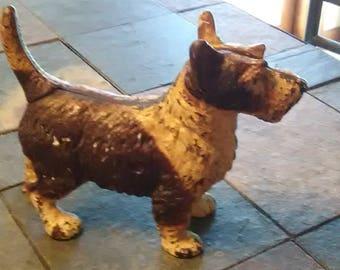 Antique Cast Iron Hubley / LITTCO CO - 1920'S -  2/ Tone Scottish Terrier Door Stop