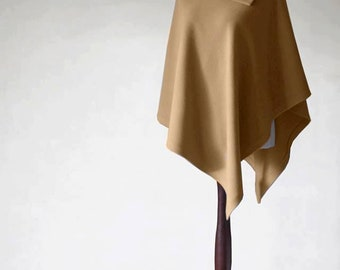 Cashmere poncho, camel poncho, camel coat, women's coat, wool coat, women's poncho, women's cape, wool poncho, cashmere sweater, wool cloak