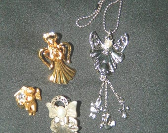 Angel Brooches - Pins - Pendant - Detash - Lot of 4