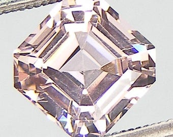 Excellent Morganite Asscher Cut 8 x 8 mm Lab Created Nanocrystal Morganite Simulated Gem Loose Lab Morganite Loose Gemstone