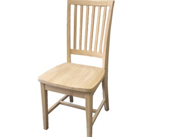 Rustic Unfinished Farmhouse Chair