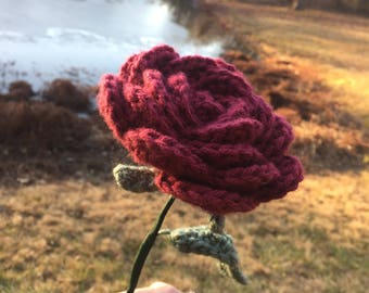 Crocheted Rose