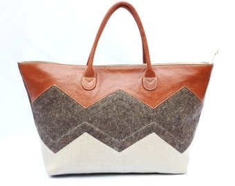 Felt and Leather Tote