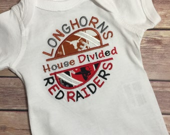 House Divided Onesie College House Divided Shirt Personalized T-Shirt Adult House Divided Tee Child House Divided T Shirt