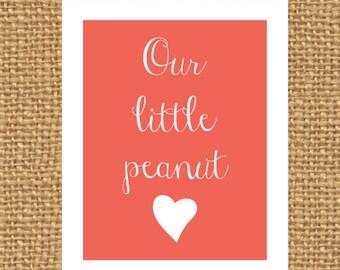 Our Little Peanut Print | Custom Nursery Print | Nursery Print | Custom Printable | Little Peanut | Nursery Decor | Baby Shower Gift | Decor