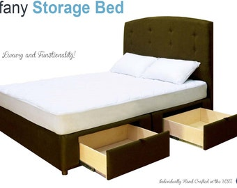 Tiffany 4 Drawer Platform Bed / Storage Mattress Box