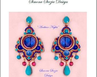 """Tutorial """"Arabian Nights"""" earrings / orecchini"""
