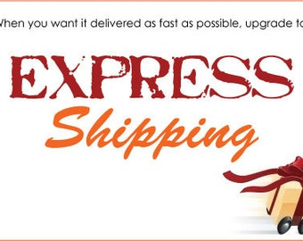 EXPRESS SHIPPING UPGRADE - Need it fast? No problem!