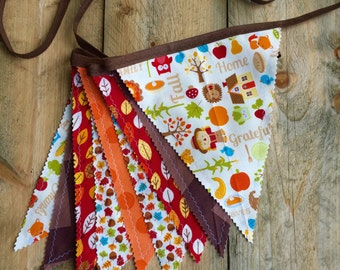Porch decor - Autumn flag bunting - Thanksgiving party banner - Thanksgiving banner - Thanksgiving decor - Classroom decor - mantel decor