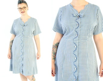 1950s Sailor Gingham Dress