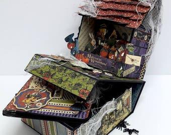 Graphic 45 Halloween in Wonderland Spooky Photo Box and Mini Album