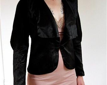 1900s Avant Garde Black Satin Jacket.