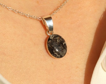 Phoenix Small Stone Pet Ashes Necklace 925. Sterling Silver