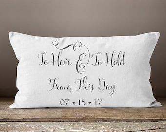 Wedding Gift | Wedding Date Pillow | Date Pillow | Wedding Date Gift | Gift for Wedding | Wedding Day Gifts