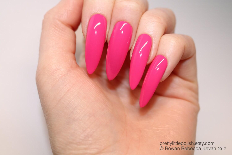 Pink long stiletto nails, 20 full set of nails, Stiletto nail, Kylie ...