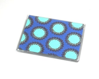 Card Case Mini Wallet Amy Butler Soul Blossoms Periwinkle Laurel Dots