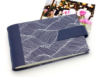 Wedding Mini Photo Album, Navy and White, Anniversary Gift, Personalize It