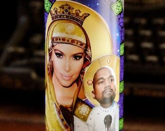 Saint Kim and Baby Yeezus Prayer Candle / Kim Kardashian / Kanye West