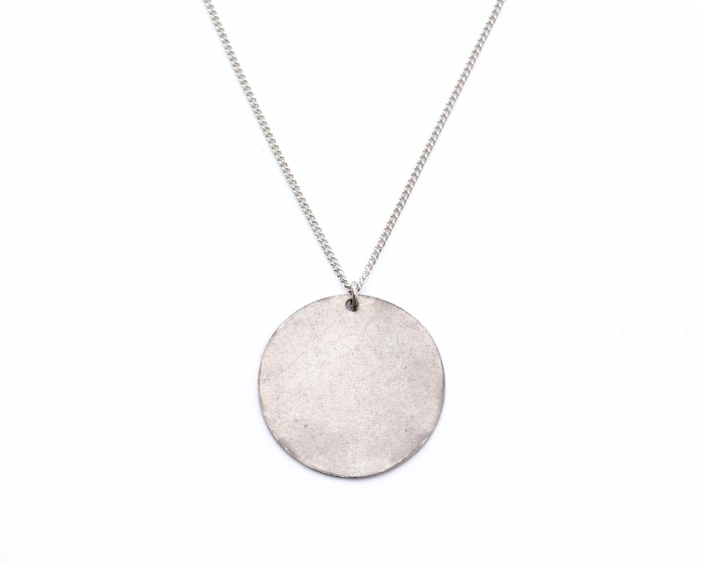 Jupiter disc necklace circle pendant silver or bronze zoom mozeypictures Images
