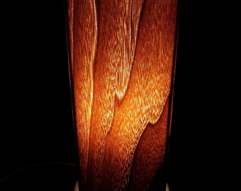 Handmade Personalized Real Wood Accent Lamp - Walnut
