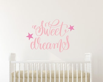 Sweet Dreams Wall Decal Quote
