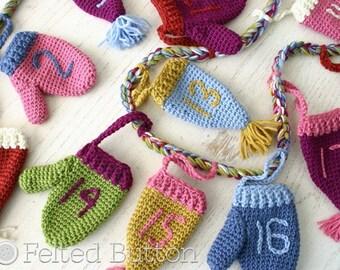 Crochet Pattern, Christmas Countdown, Bunting, Hanging Ornament