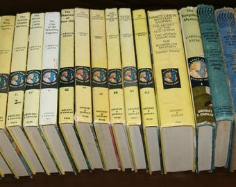 Lots of Nancy Drew Books by Carolyn Keene, Ruth Fielding at Lighthouse Point by Alice B. Emerson, Under the Lilacs by Louisa May Alcott