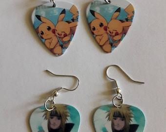 Guitar Plectrum Earrings - Ear ring Pikachu, Naruto Minato