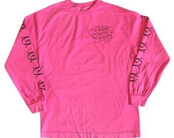 Black on Pink Oxbow BAFPA Logo Longsleeve Shirt
