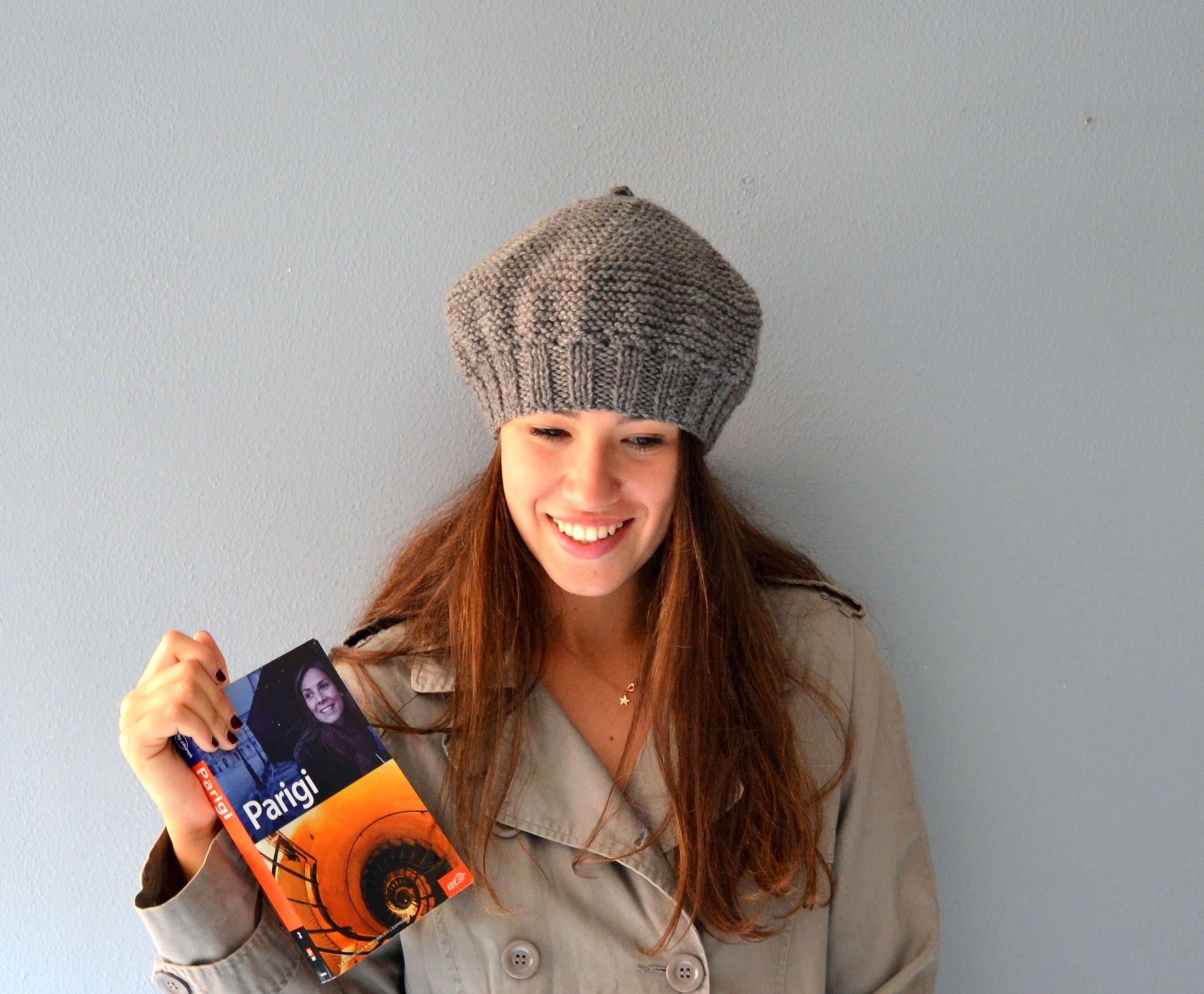 9b58f89ac4d Accessories Women grey Hat women knit mud Beret winter