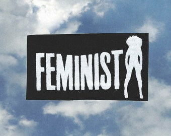 "Beyonce- inspired ""Feminist"" screen-printed patch"