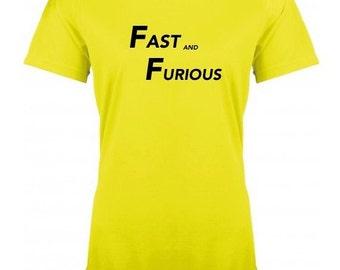 Running round neck women t-shirt FAST AND FURIOUS