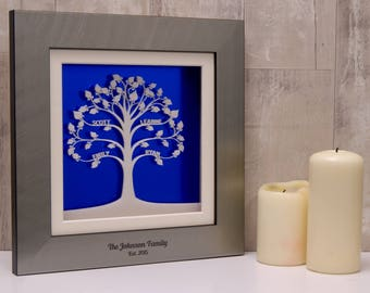 Personalised Modern Acrylic Family Tree Wall Art