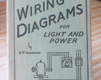 Vintage, 1939  Antique Book - Audels Wiring Diagrams for Power and LIght  - Estate find from a collector of AUdel Books