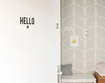 Front door decal - Hello - home decor decal - Vinyl decal