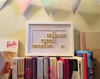Scrabble Art Framed Picture - *Custom Made*