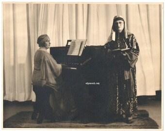 30s orientalist photo lith flapper sheik music organ spooky eerie piano secret society ritual
