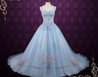 Powder Blue Cinderella Ball Gown Wedding Dress | Blude Wedding Dress | Princess Wedding Dress | Alternative Wedding Dress  | Seattle