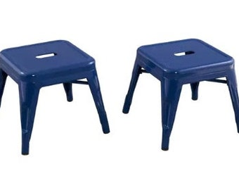 "Custom Painted Tolix Style Child Size 12"" Stool in the color of your choice"