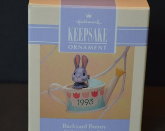 1993 Backyard Bunny Hallmark Easter Ornament
